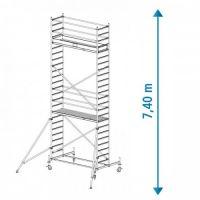 Алуминиево мобилно скеле KRAUSE Stabilo, 7.40 м
