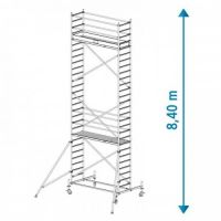 Алуминиево мобилно скеле KRAUSE Stabilo, 8.40 м
