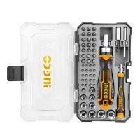 Комплект отвертка с битове INGCO HKSDB0558, 55 части
