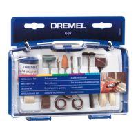 Универсален комплект за полиране/шлайфгрифер DREMEL 687 /52 части/