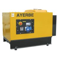 Трифазен бензинов генератор с шумозаглушителен кожух AYERBE 8000 INS ТХ ел.старт