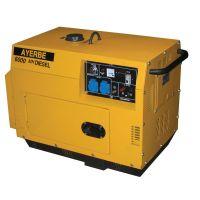 Монофазен дизелов генератор с шумозаглушителен кожух AYERBE 6000 D INS ел.старт