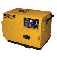 Трифазен дизелов генератор с шумозаглушителен кожух AYERBE 6000 D INS ел.старт