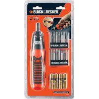 Комплект от 19 части  BLACK & DECKER A7073 /отвертка с алкални батерии/