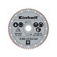 Режещ диамантен диск за TE - TC 620 U Einhell /Ф 200 х 25,4 мм., турбо/