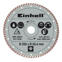 Диамантен режещ диск за RT-SC 570 L Einhell /Ф 250 х 25,4 мм., турбо/