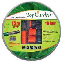 Маркуч градински  за вода Topgarden трислоен 1 цол, 50м