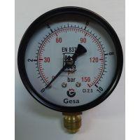 Манометър с резба GESA /10 bar, ф 63 мм, радиален 1/4\