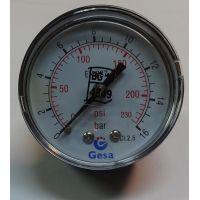Манометър с резба GESA /16 bar, ф 50 мм, аксиален 1/4\\