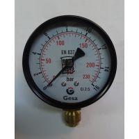 """Манометър с резба GESA /16 bar, ф 63 мм. радиален 1/4\""""/"""
