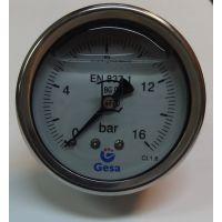 Манометър с резба GESA, ф 63 мм, 16 bar