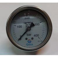 """Манометър с резба GESA /400.0 bar, ф 63 мм, аксиален 1/4\""""-глицеринов/"""