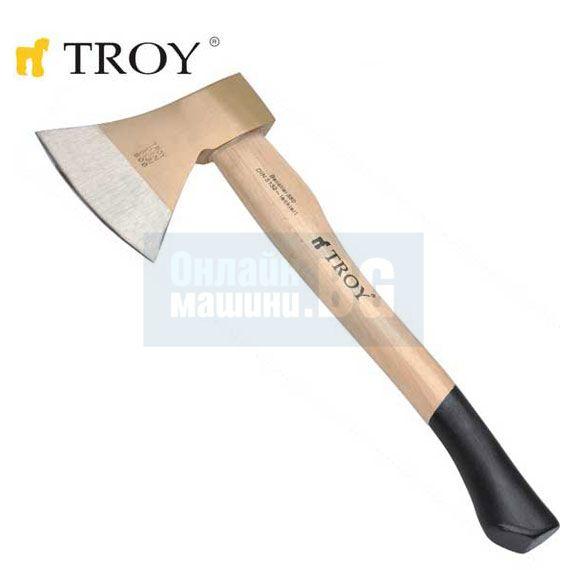 Брадва с дървена дръжка TROY T 27222 / 880 гр. /