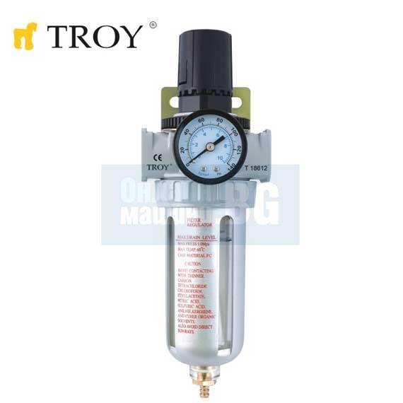 Пневматичен регулатор и филтър TROY T 18614, 1/4''(N)PT