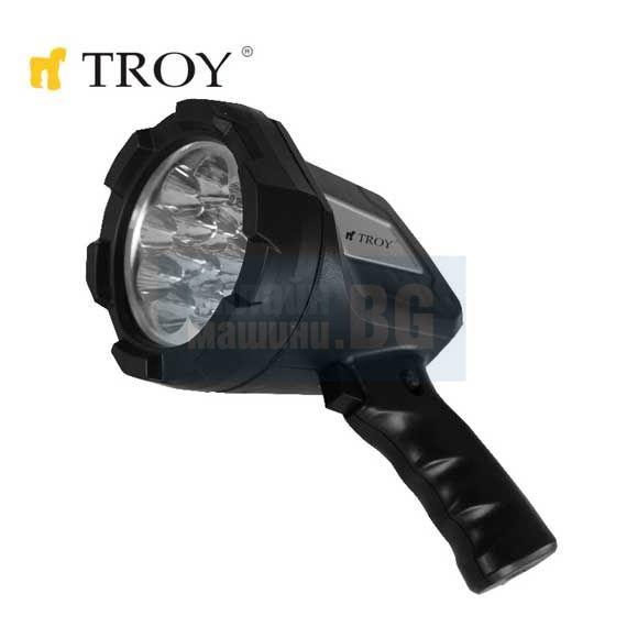 80604d7b0be Акумулаторен ръчен фенер TROY T 28033 / батерия 6V, осветяване до 104 метра  /