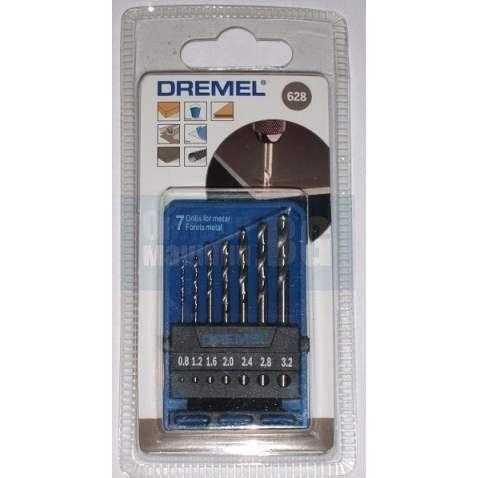 Свредло за метал к-кт Dremel 628 /Ф 0,8 - 3,2 мм., 7 броя/