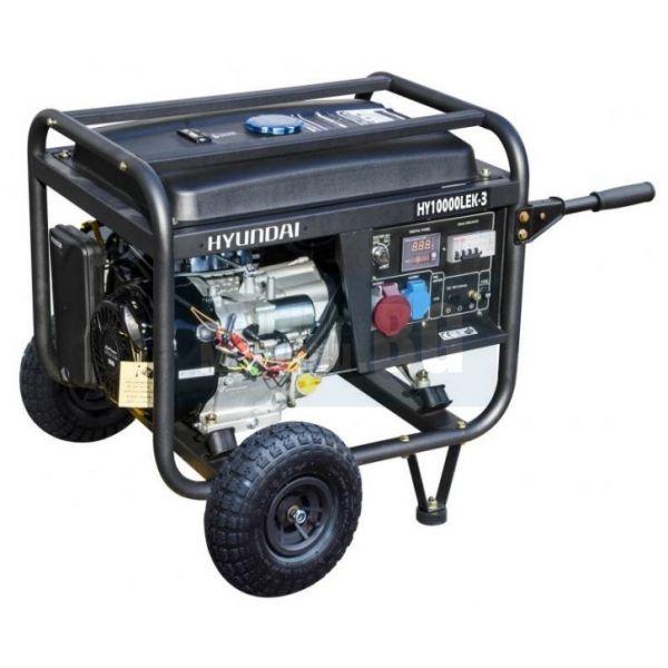 Мотогенератор трифазен Hyundai HY10000LEK / 3 - 9,4 kVA, ел. стартер, 25 л. резервоар /