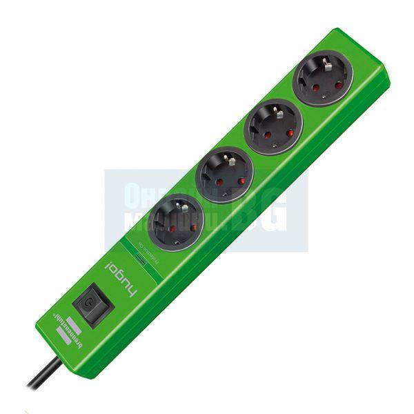 Електрически разклонител Hugo Brennenstuhl / 4 контакта , 2 м кабел /