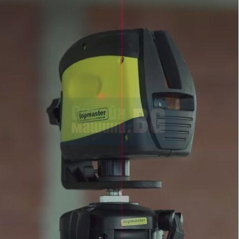 Линеен лазерен нивелир Topmaster TMP 100 / 40 m , +/- 0,3mm на 1m / без статив