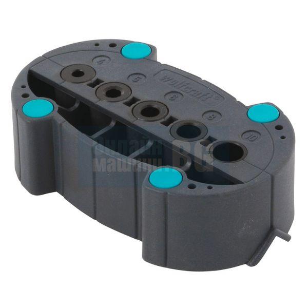 Шаблон за отвори Wolfcraft ф 4, 5, 6, 8 и 10 мм