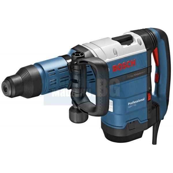 Къртач с SDS-max Bosch GSH 7 VC Professional / 1500 W , 13 J , SMS-max /
