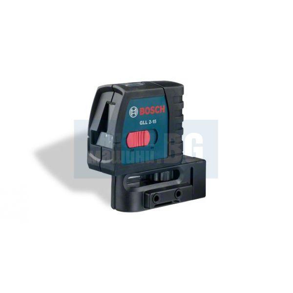 Самонивелиращ 2 линеен лазерен нивелир Bosch GLL 2-15 / 15 m /