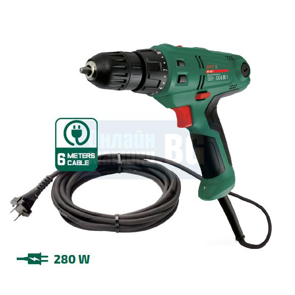 Електрически винтоверт DWT BM 280 T / 280 W , 10 mm , 2 скорости,6 м.кабел /