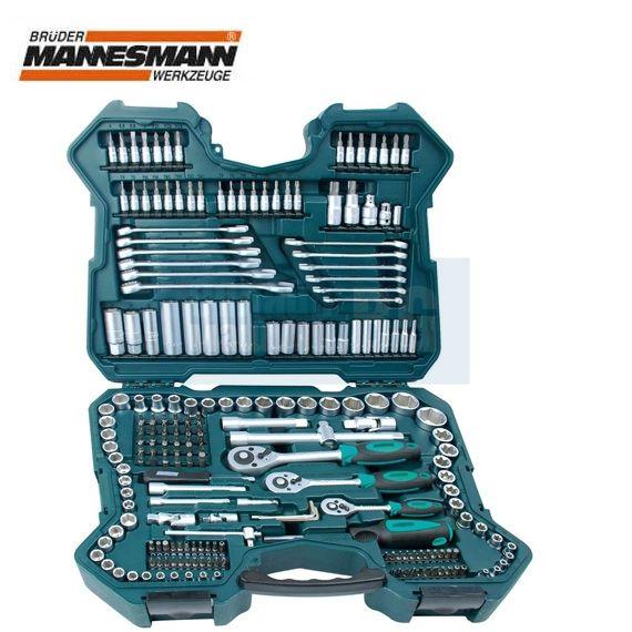 Комплект тресчотки с вложки и ключове Mannesmann M 98430 / 215 части / с  10 години гаранция