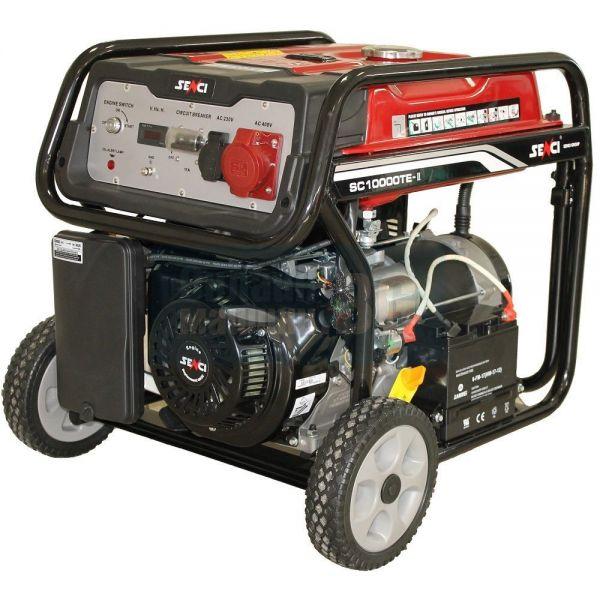 Бензинов генератор, с електрически стартер SENCI SC-10000TE / 8.5kW, AVR, 4-тактов /