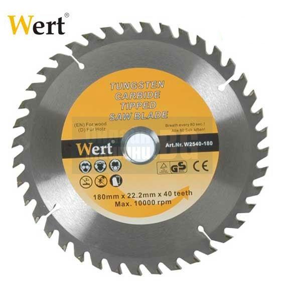 Диск за дърво Wert - W 2540-180