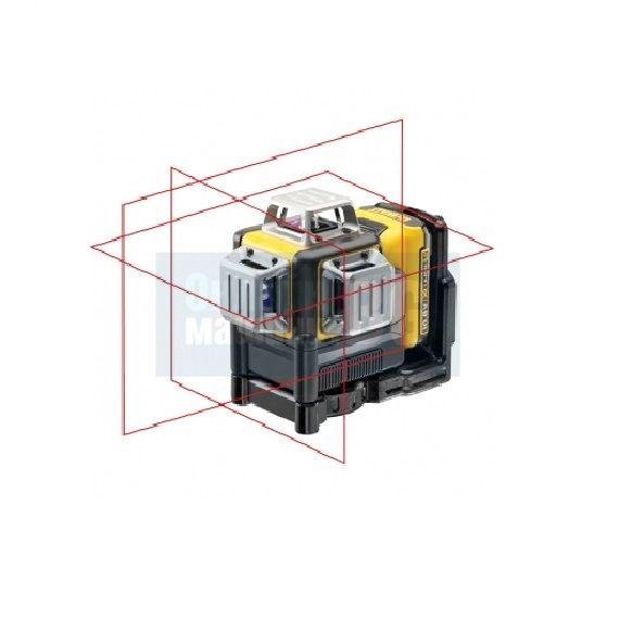 Акумулаторен лазерен линеен нивелир DeWalt DCE089D1G-QW / 2, 1mW, ± 0,3 mm/m / зелен лъч, 10,8V, 2Ah, куфар