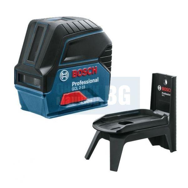 Линеен лазер Bosch GCL 2-15 /стойка магнитна RM 1 Professional/