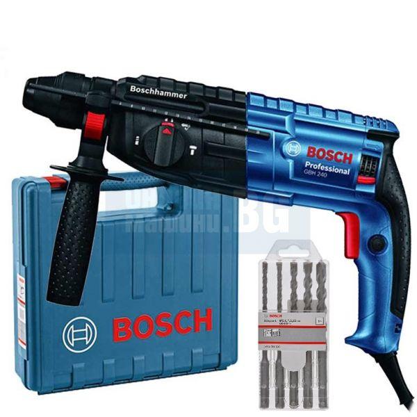 Перфоратор Bosch GBH240 с SDS-plus, 790W, 2,7J