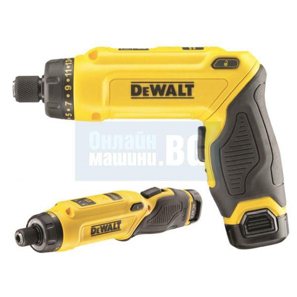 Акумулаторна отвертка с жироскопично действие DeWALT DCF680G2 / 7,2 V / 2 батерии и куфар/