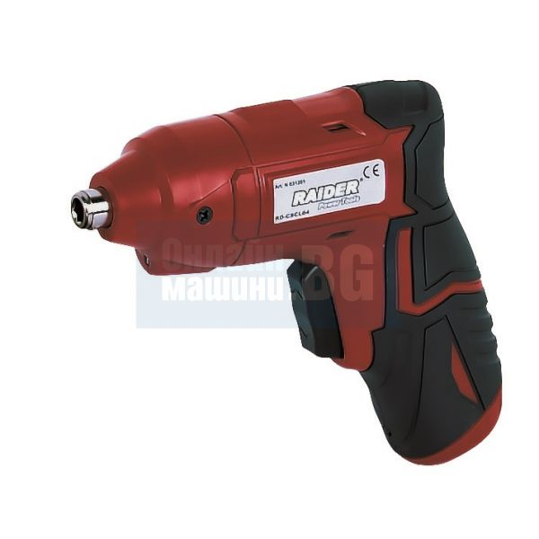 Акумулаторна отвертка RAIDER RD-CSCL04 / 3,6 V , 250min-1 /LI-ION