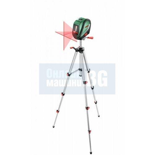 Лазерен нивелир с кръстосани линии и отвес Bosch UniversalLevel 2 Set + статив / 10 м , ± 0,5 mm/m /