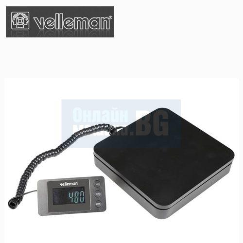 Цифрова везна с портативен дисплей Velleman VTBAL29 / до 40 кг., деление 5 гр /