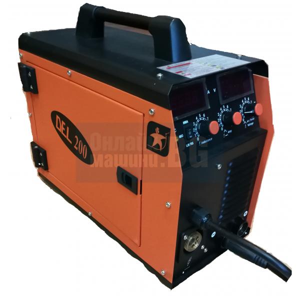 Инверторно телoподаващо + електрожен АИГ DEL 200 Eco Control / 200 A , ролка 5 кг /