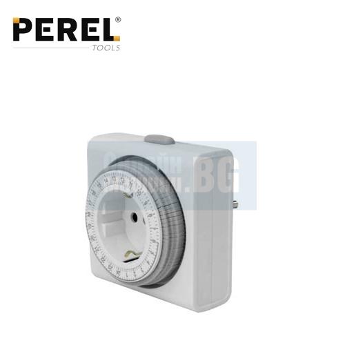 Контакт с компактен таймер 24 часов PEREL E305D4-G