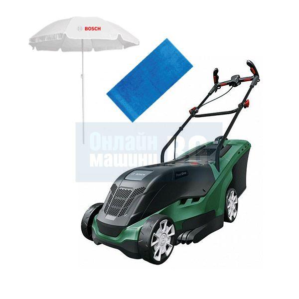 Електрическа косачка Bosch UniversalRotak 550 PowerDrive / 1300 W , 37 см , 40 л /