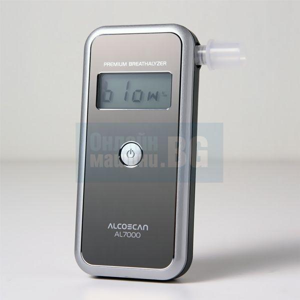 Тестер за алкохол / дрегер Alcoscan AL7000 комплект + 50 броя мундщук + резервни алкални батерии