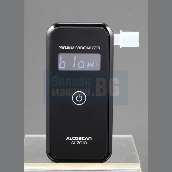 Тестер за алкохол / дрегер за личен контрол Alcoscan AL7010 комплект + резервни алкални батерии