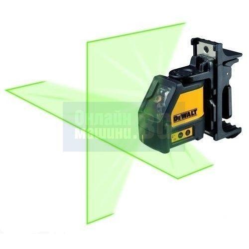 Линеен лазерен нивелир самохоризонтиращ се, зелен лазер с 2 лъча, линии DeWALT DW088CG / 20.0 м. /