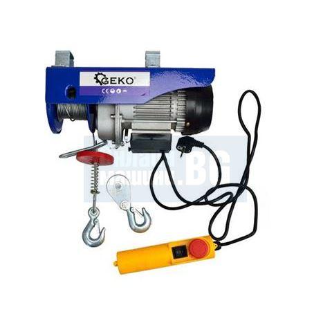 Електрически телфер GEKO G01087 /150/300кг, 12/6м., 600 W/
