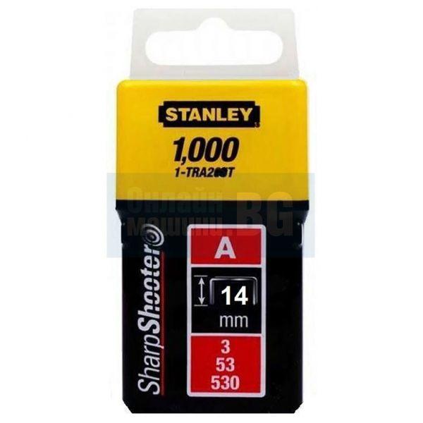 Скоби за такер Stanley Type A53 H 14 мм, 1000 бр., 1-TRA209T