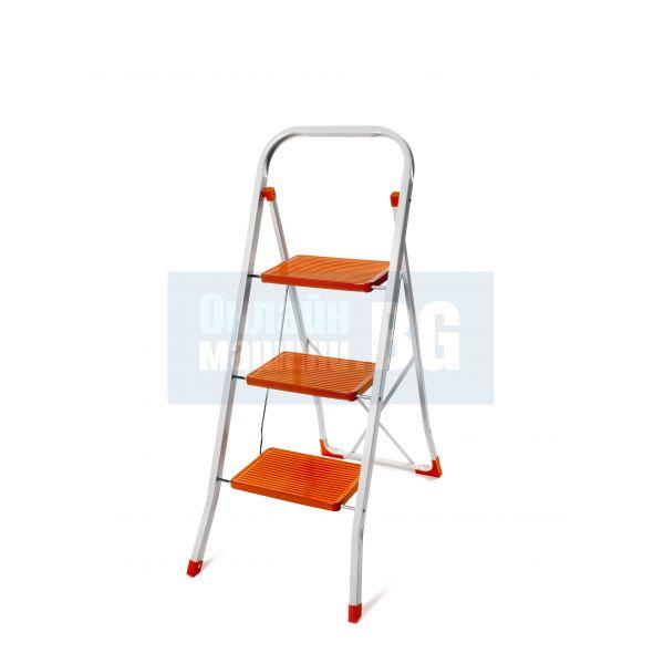 Домакинска метална стълба 3 стъпала, 150кг.