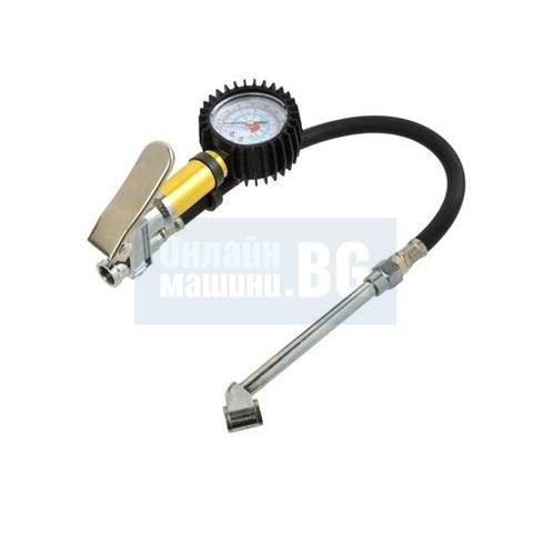 Професионален пневматичен пистолет за помпане на гуми с манометър GEKO G01112/ 16 bar, 1/4'' /