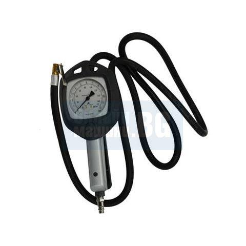 Професионален пневматичен пистолет за помпане на безкамерни гуми с манометър  GEKO G01159/ 12 bar, 1/4'' /