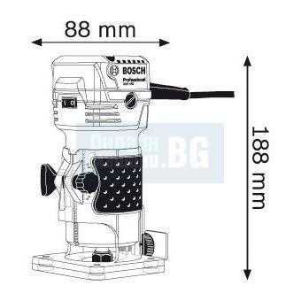 Фреза за кантове Bosch GKF 550 /550W/