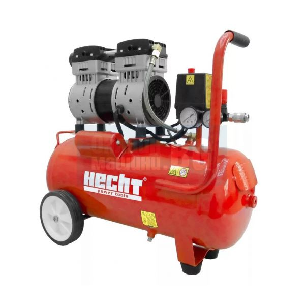 Тих безмаслен електрически компресор Hecht 2080 / 0.8 kW, 8 bar, 24 л./, само 80 децибела